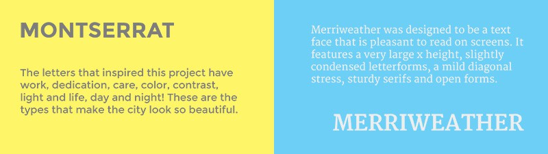 Trending Google Fonts-combinatie - Montserrat met Merriweather
