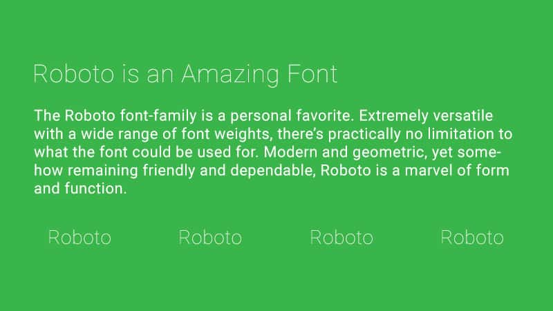 Trending Google Fonts-combinatie - Roboto Thin met Roboto Regular