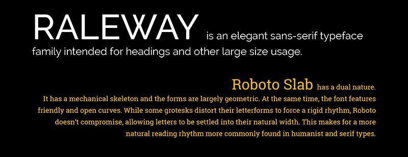 Trending Google Fonts-combinaties - Raleway met Roboto Slab