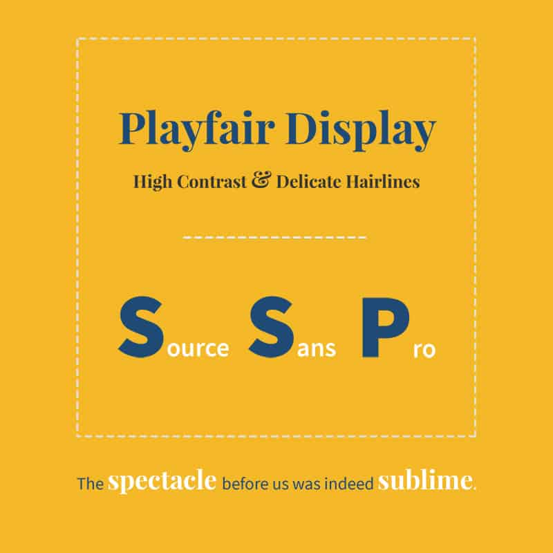 Trending Google Fonts-combinatie - Playfair Display met Source Sans Pro