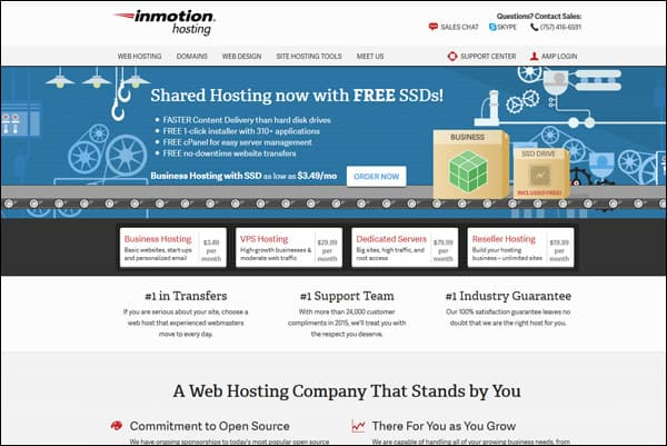 En iyi web hosting şirketi # 1 - InMotion Hosting