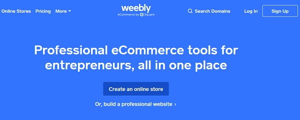 Weebly Builder spletnih strani